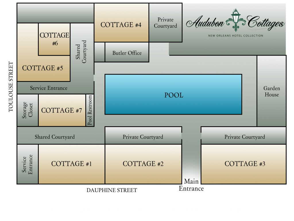 Audubon Cottages Map